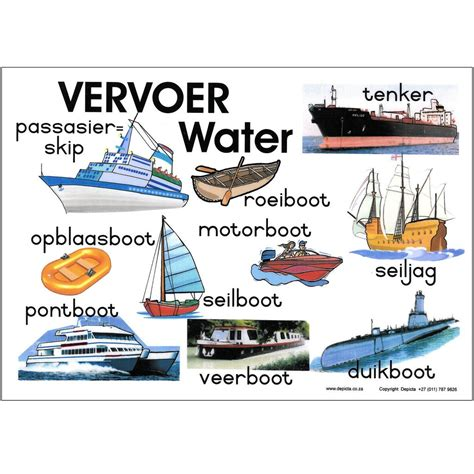 Transport Wall Stickers vervoer water depicta