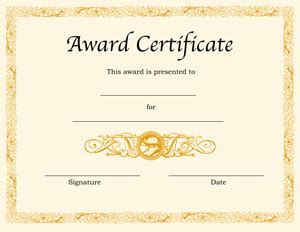certificate templates blank award certificate templates for word printable