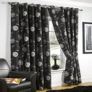 Black And Silver Kitchen Curtains Black Silver Eyelet Curtains 90x108 Co Uk Kitchen Home