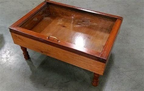 wood shadow box coffee table by sandjbargainvault