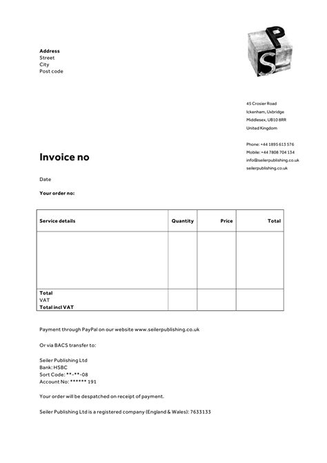 limited company receipt template invoice letterhead templates for therapists websites