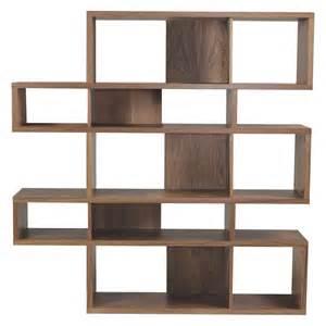 Bookcase Wooden Antonn Tall Walnut Shelving Unit Buy Now At Habitat Uk