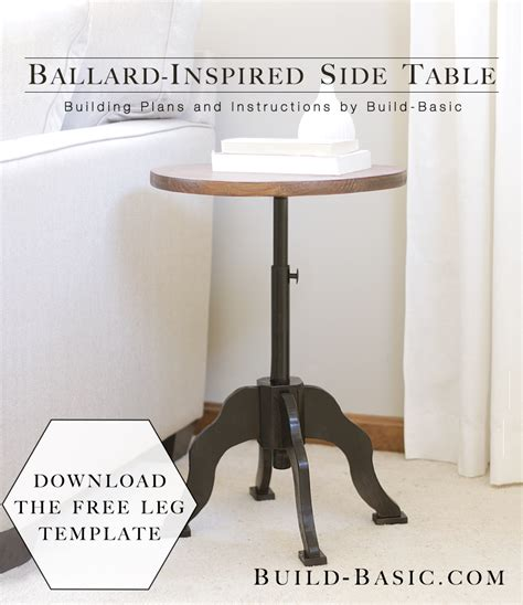ballard inspired side table build basic