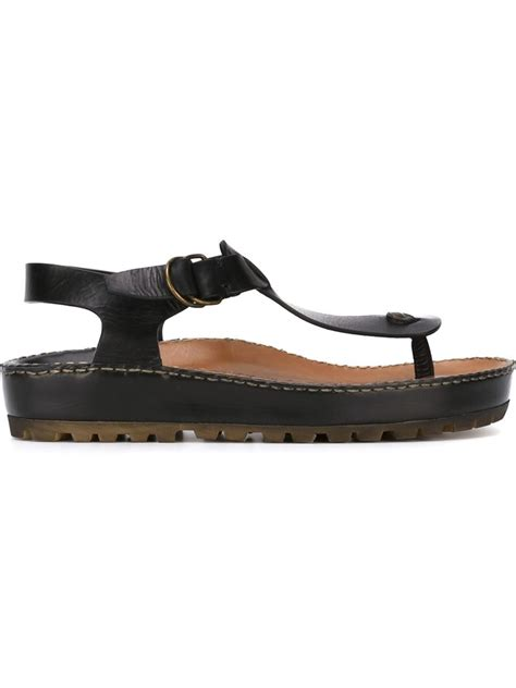 t sandals silvano sassetti t bar sandals in black for lyst