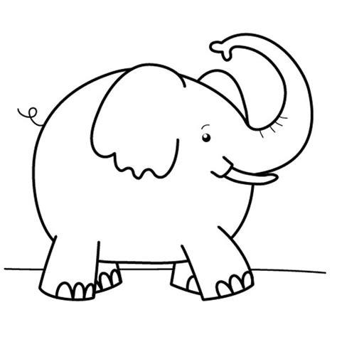 orejas de elefante para colorear elefante feliz dibujo para colorear e imprimir