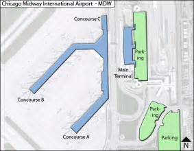 Chicago Midway Airport Map by Mdw Chicago Midway Airport Terminal Maps