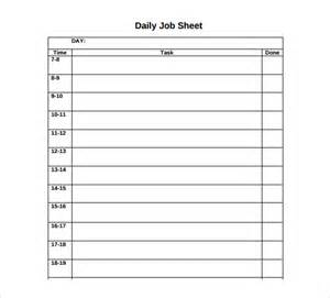 daily sheet template sle sheet template 7 free documents in pdf