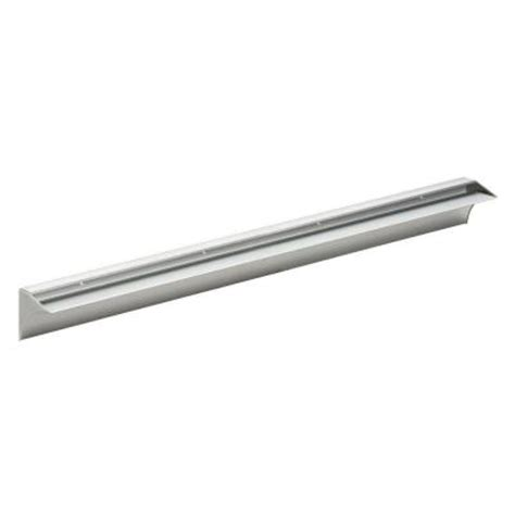 dolle rail 31 1 2 in l shelf bracket set in silver 19840