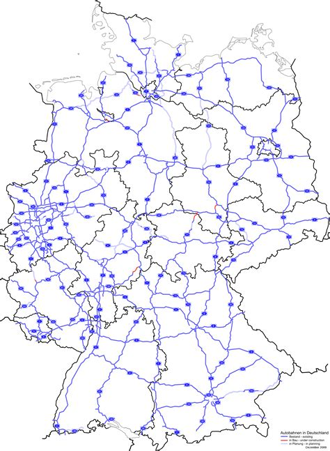 road map of germany germany road map 2009 size