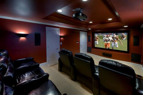 basement theater ashburn transitional basement theatre room