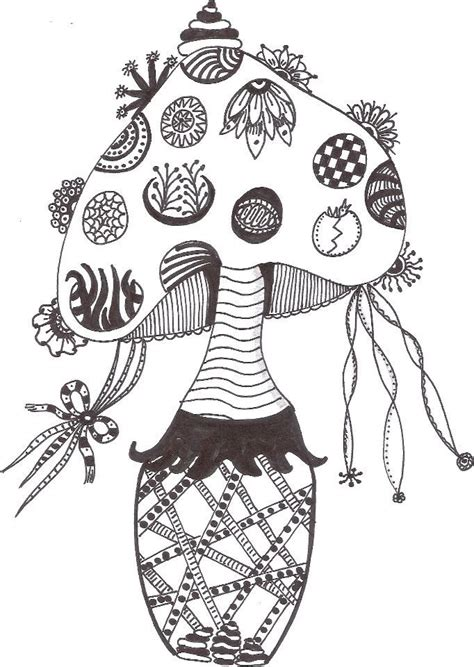 how to draw a tangle doodle part 3 made by jolanda zentangle mushrooms