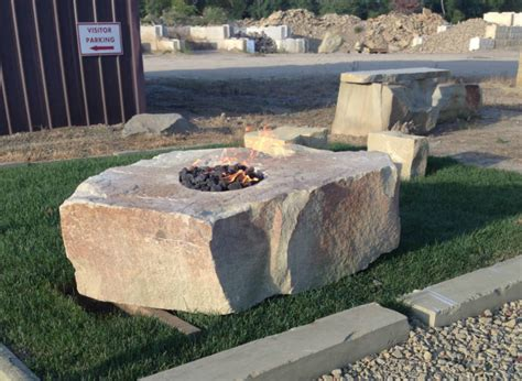 Natural Stone Fire Pits Stone Fire Pit Natural Stone Rock Firepits