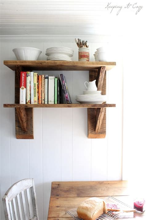 diy kitchen shelving ideas reclaimed wood diy projects for home