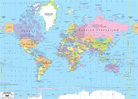map of the world world political map ezilon maps
