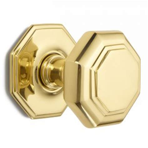flat octagonal centre door knob 4185 brass nickel