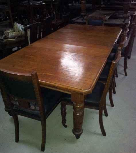 large oak   seat dining table antiques atlas