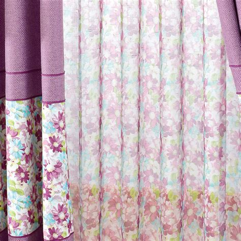 purple print curtains country curtains room darkening purple floral print splicing