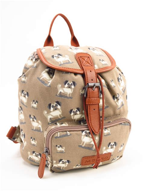 pug purses and handbags pug patterned rucksack bag i pugs