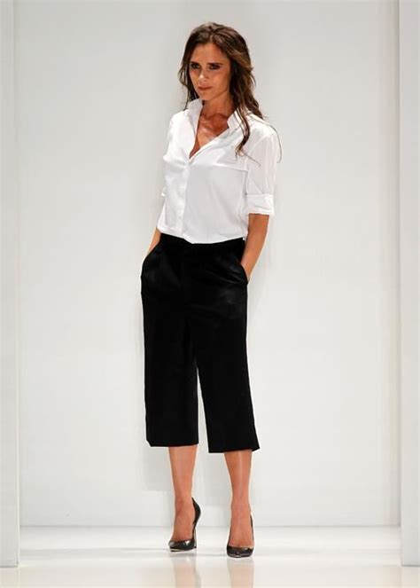 are crop pants still in style white shirt x cropped pants victoria beckham love