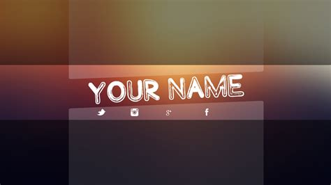 photoshop templates for banners youtube banner template psd cyberuse
