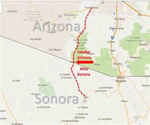 sasabe arizona altar sonora border crossing on the
