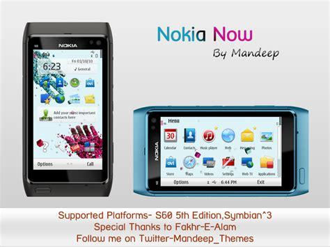 hd themes for nokia e7 symbian theme nokia now theme per symbian s60v5 e symbain 3