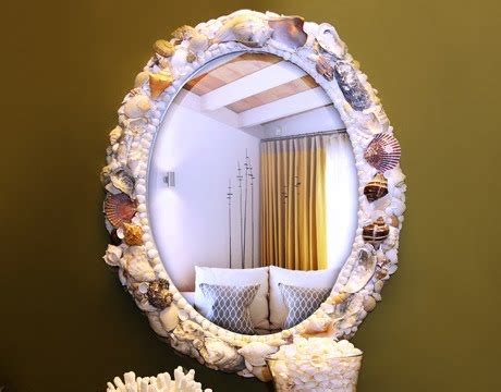 shell frame tutorial  nate berkus coastal decor ideas