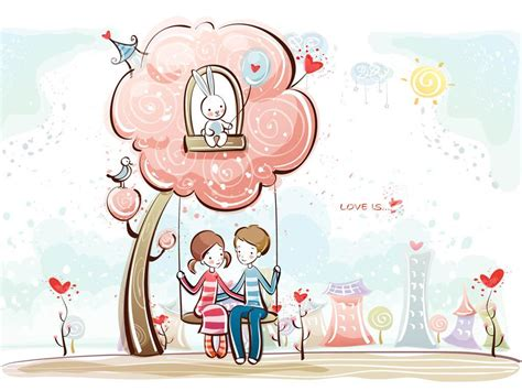 wallpaper of cartoon couple somewhereovertherainbow sweet couple cartoons