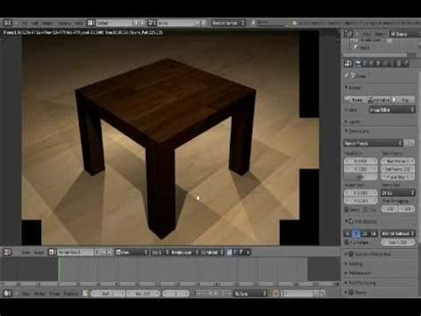 tutorial blender table blender tutorial how to make a table youtube