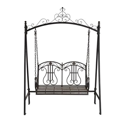 wrought iron swing seat marquee rustic iron 2 seater swing bunnings warehouse