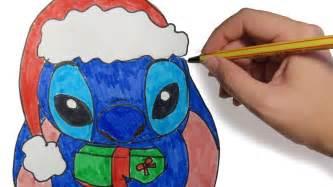 dibujos de navidad stich navide 209 o paso a paso dibujos