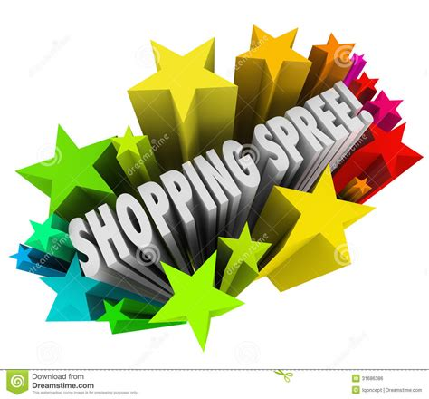 Sweepstakes Prizes - shopping spree words stars winner sweepstakes prize royalty free stock image image