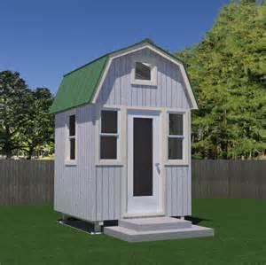 house free free micro gambrel tiny house plans tiny house pins