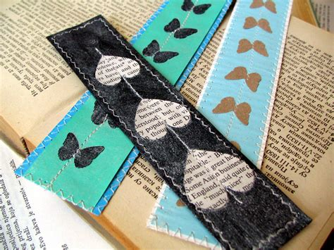 Handmade Book Marks - two minutes bookmarks artfrommysoul
