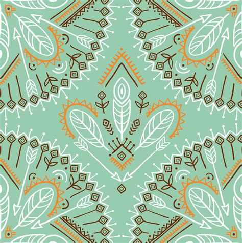 seamless multicolor arrow pattern stock vector image vector seamless pattern with ethnic arrows feathers and
