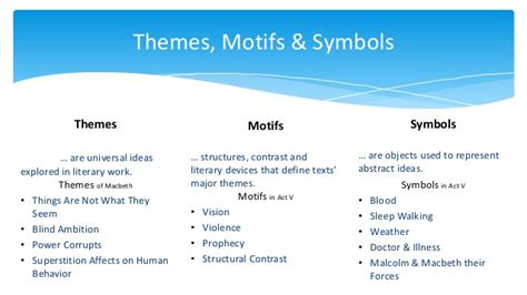 macbeth themes motifs and symbols macbeth act v