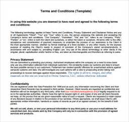 terms and conditions free template term and condition template modern house