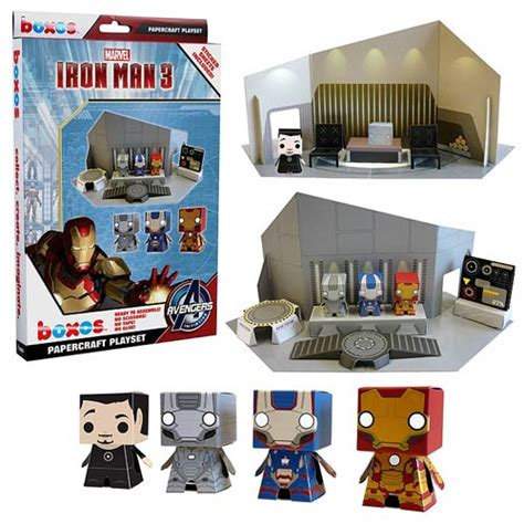 Papercraft Sets - iron 3 boxo papercraft playset funko iron