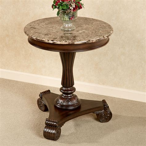 Marble Accent Tables | killian marble top round accent table