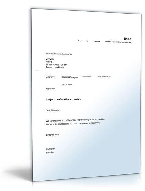 Musterbriefe Englisch Privat Empfangsbest 228 Tigung Auf Englisch Vorlage Zum