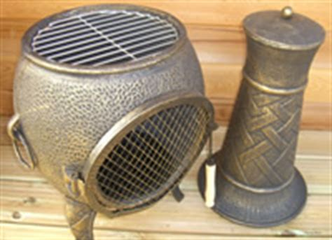 Chiminea Cap by Buy The Medium Basket Weave Cast Iron Chimnea From