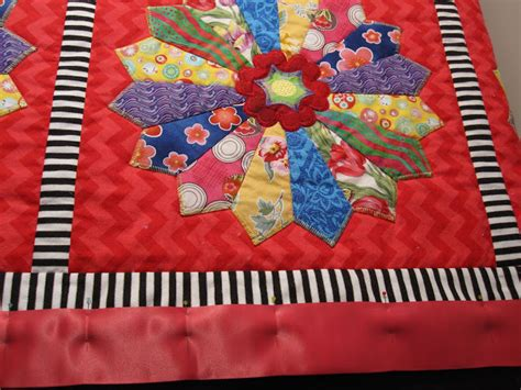 Edging For Quilts by Cheeky Cognoscenti Finished Dresden Plate Minky Quilt