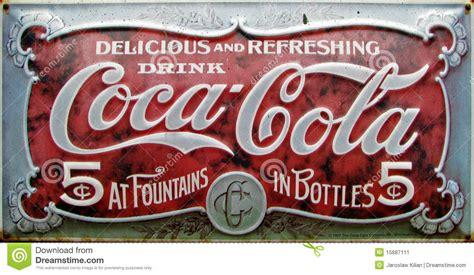 Imagenes Retro Coca Cola | an 250 ncio da coca cola do vintage foto editorial imagem