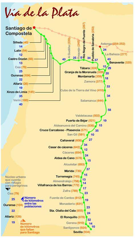 camino de la plata el camino de santiago une europa el camino de la v 237 a de