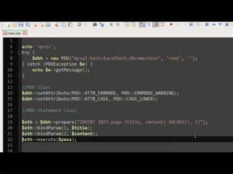 tutorial php oop php oop tutorial 22 pdo exles youtube