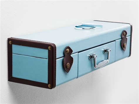 wall shelf suitcase light blue by kare design