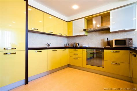 modern yellow kitchen pictures of kitchens modern yellow kitchens kitchen 7