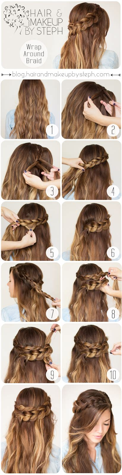 how to wrap hair with weave hair and make up by steph how to wrap around braid