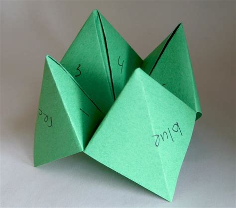 Fortune Teller Origami - sculptures you ve never seen made of paper dish