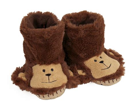 monkey slippers monkey slouch slippers brown monkey slippers